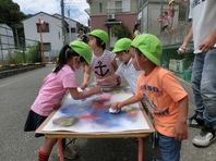 スプレーアート体験イベント(保育園)の画像