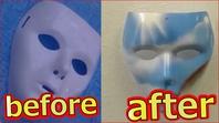 100均ダイソーでラファエル仮面をDIY空と虹のスプレーアートで作ってみた【ASMR】の画像