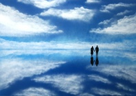 【世界一の絶景】世界遺産ウユニ塩湖をスプレーアートで表現!の画像