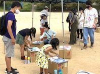 明石市でスプレーアート体験イベント開催しました☆の画像